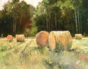 August Bales, 24 x 30 oil